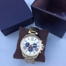 MICHAEL KORS MK5838 WREN CHRONO SILVER DIAL GOLD BAND WATCH