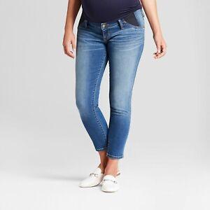 Isabel Maternity by Ingrid & Isabel Inset Panel Skinny Crop Jeans, Medium Wash