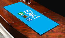 Runner blu da tavolo iDad, da bar, ideale per feste a casa o altre occasioni
