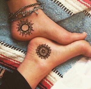 100% Organic Brown Henna Cones Temporary Tattoo Body Art Ink 3 pcs