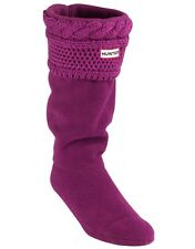Hunter Dark Violet Moss Cable Cuff Welly Socks RRP £30 on Amazon BARGAIN!!!!