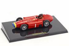 Juan Manuel Fangio Ferrari D50 Champion du monde Formule 1 1956 avec vitrine