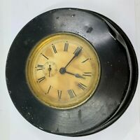Antique Waterbury  Wall Clock 1901 school black metal clock not tested