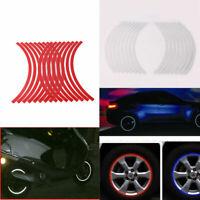 16x Motorcycle Bike Car Stripe Wheel Reflective Rim Tape Decal Strip Stickers
