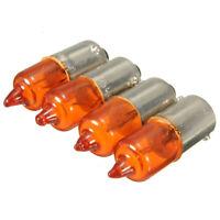4x BA9S 21W 12V Ampoule Clignotant Veilleuse Turn Signal Ambre Halogène Orange