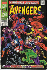 The Avengers King-Size Special Comic Book #2, Marvel Group 1968 VERY FINE-