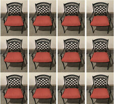 Patio dining chair set of 12 aluminum outdoor furniture restaurant seating