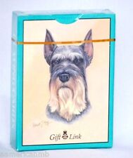 "Schnauzer Dog Playing Cards Standard Size 3.5""x2.5"" Game Dog Puppy Love"
