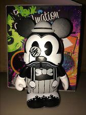 """Moustashe Mickey Mouse 3"""" Vinylmation D-Tour Series #2 Moustache Black White"""