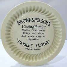 Antique Doulton Brown & Polson's 'Paisley Flour' Shortbread Baking Dish