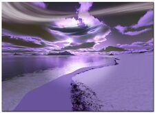 Singel Canvas 54x39cm Large Digital Canvas Art Abstract Prints SANTACRUZ PURPLE