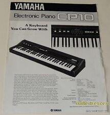 Feuillet de présentation  Electronic Piano CP10 YAMAHA en langue anglaise