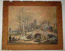 Antique Dutch 18 C. Watercolor by Pieter Pietersz Barbiers (1749-1842) Signed
