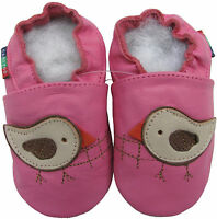 carozoo teddy bear skirt pink 6-12m soft sole leather baby shoes