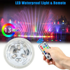 Waterproof 10 LED RGB Submersible Light Party Vase Lamp With Remote Control