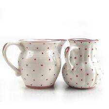 Gmundner Keramik rosa Tupf Milchgießer glatt