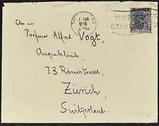 Burma 1938 KGV Cover To Switzerland #C53524