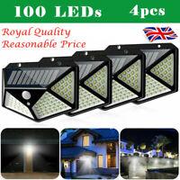 100LED Solar Power Light PIR Motion Sensor Security Outdoor Garden Wall Lamp 4
