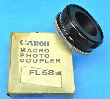 Canon Macro Coupler FL58mm  #Box 2 .......... MINT w/Box