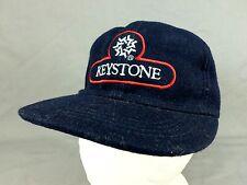 Keystone Colorado Trapper Hat Cap Snow Flake Ski Snowboard Wool Blend Blue Vtg L