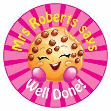 80 Pegatinas De Recompensa Profesor Personalizado alumnos Cookie rosa