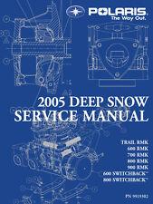 Polaris 2005 Snowmobile Trail 600 700 800 900 RMK Switchback service manual bind