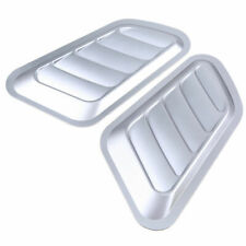 2x Auto Car Decorative Air Flow Intake Scoop Bonnet Side Fender Vent Hood Silver