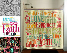 faith love happiness peace inspirational shower curtain custom bathroom decor fa