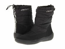 DKNY Womens Galileo Black Or Red Casual Slip-On Winter Snow Fashion Ankle Boots