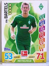 Match Attax 2017/18 Bundesliga - #048 Fin Bartels - SV Werder Bremen