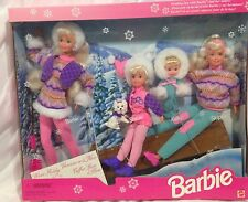 Vintage Sledding Fun With Barbie And Her Sisters Gift Set Skipper Kelly Stacie