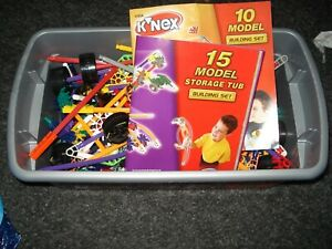 Knex - 48242 - 15x Model Set, Building Set - 100% Storage Tub Aged 6+