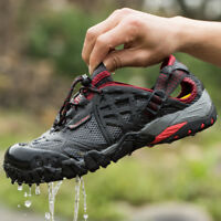 Men's Outdoor Sneakers Breathable Hiking Shoes Trekking Trail Water Sandals New