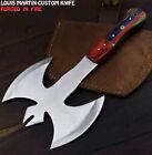 Louis Martin Rare Handmade D2 Steel Hard Wood Hunting Clever Chopper Axe Knife