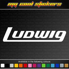 Ludwig Drums Bass Drumhead Logo Vinyl Sticker Decal for car, ute, drum, window