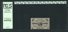 "1864-69 3 Cent Fractional Currency Fr-1226 Certified By Pcgs ""Choice New"" 64Ppq"