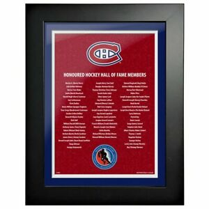 """Montreal Canadiens Hockey Hall of Fame Members Photo (Size: 14"""" x 18"""") Framed"""