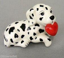 Dalmation Puppy Dog with Red Valentine Heart Figurine Shelf Sitter GANZ Ceramic