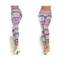 Pantacollant multicolor da donna leggins taglia unica comodo sportivo estate