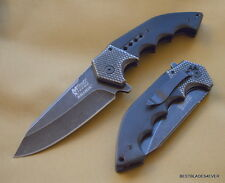 MTECH XTREME TWO TONE BLACK/STONEWASH TACTICAL SPRING ASSISTED KNIFE WITH CLIP