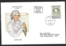 Austria 1982 First Day Cover, Haydn And His Time Exhibition Rohrau