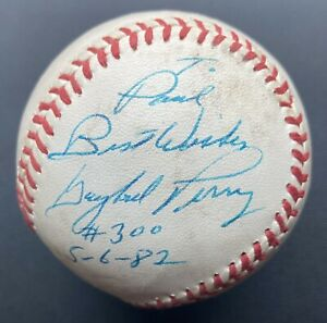 Gaylord Perry Game Used #300 Win Signed Baseball Autographed Ball GU 5/6/1982