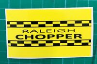 RALEIGH CHOPPER MK 1 BLACK & YELLOW SEAT PLATE STICKER DECAL BADGE