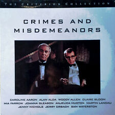 CRIMES AND MISDEMEANORS - WOODY ALLEN, MARTIN LANDAU - LASER DISC - STILL SEALED