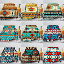Indian Style Blanket Coral Fleece Blankets All Season Home Sofa Couch Decoration