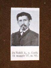Garibaldino Mille Garibaldi De Nobili A. di Corfù e Corti Francesco di Bergamo
