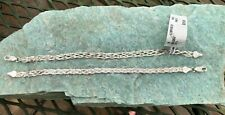 """NWT Dyadema Italy 925 Sterling Silver Woven Chain 7"""" Bracelet LOT of 2"""