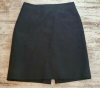 Womens J Crew The Pencil Skirt Size 2 Black Wool Blend