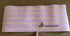 Yoga Mat American girl doll size from warm up outfit pink butterfly roll up