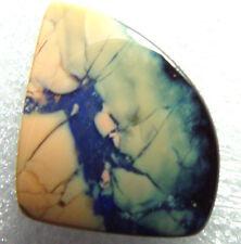 undrilled boulder opal, pool of blue veins, 31.6 carats, 23 x 20 x 7mm